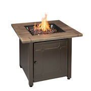 Mr Bbq Lp Firepit Brooks 50,000 Btu 30 In Patio Deck Fire Table With Insert
