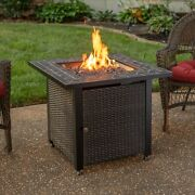 Mr Bbq Lp Firepit Slate Tile 50,000 Btu 30 In Patio Deck Fire Table With Insert