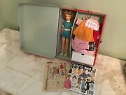 Vintage Ideal Tammy Doll Red Case Clothes Shoes Booklets Patterns And More