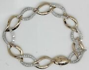 Gorgeous 18k White And Rose Gold Bracelet With 2.00 Ctw Diamonds Ab4