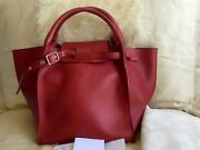 2850 Celine Small Big Bag In Calfskin Pop Red With Tags Excellent Condition