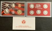 2003 Silver Proof Set 10 Coins 2 Lenses And Coa In Original Package