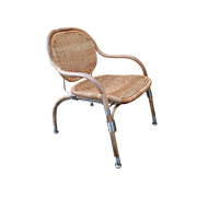 Mats Theselius For Ikea Wicker Rattan And Steel Armchair