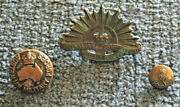 1903 Commonwealth Military Forces Button + Ww2 Button And Rising Sun Collar Badge
