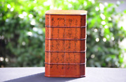 Jubako 23 Antique Lacquer Wooden Ware Boxes Kyo-nuri Lacquer Natural Wood