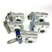Lot Of 5 Canon Powershot A60 And A70 Digital Cameras Untested For Parts As Is