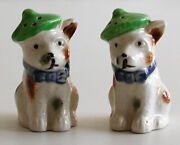 Lot Of 2 1940s Occupied Japan Oj Salt And Pepper Shakers - Scottie Dogs And Fish