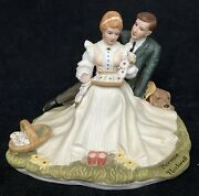 Four Ages Of Love Porcelain Figurine Norman Rockwell Danbury Mint Flowers Bloom