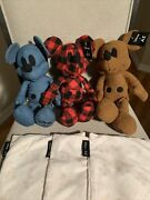 3 Set Mickey Mouse Disney X Ae American Eagle Special Editi Plush Red Blue Brown