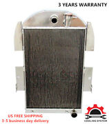 Fit 1934 1935 1936 Chevy P/u Truck 3 Row Aluminum Wr Cooling Radiator Cc3436ch