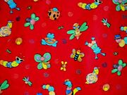 3 Yards Little Frogs And Bugs Cotton Fabric 44 Wide By Kesslers For Concord