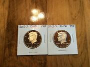 2012 S Clad And 2013 S Clad Proof Kennedy Half Dollars