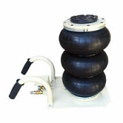 Top-grate 6600lbs Triple Bag Air Jack 3 Ton Height 5.3116.54 Free Shipping