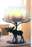 Partylite Forest Friends Lamp W Shade Candle Holder Nib Awesome Lit