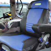 New Holland Tractor Tailored Black/blue Leatherette Seat Cover For Grammer Seat