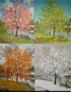 Original Painting A Tree For All Seasons