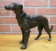 Borzoi Wolfhound Antique Cast Iron Dog Doorstop Decorative Art Statue