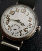 Rare Early First Heuer Wristsilver Trench Very Nice And Ervicedextremely Rare.