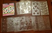 13 Pc Lot Of Candy Molds For Chocolate Gummy Pops Etc Christmas Holiday And More
