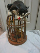 Looney Tunes Sylvester And Tweety Bird Collectible Cage-used