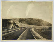 Large Photograph Of The 20th Century Limited Train Dreyfuss Hudson Model 1940