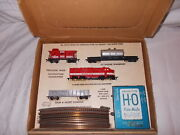 """Gilbert American Flyer Ho Scale 30740 """"north Star"""" Freight Set In O.b.lot M-91"""