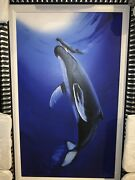 Wyland The First Breath Hand Signed Giclee On Canvas. Framed Coa. Beautiful