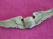 Authentic Sterling Amico Army Airforce Wwii Usaaf 2 Pilot Wings  L3741