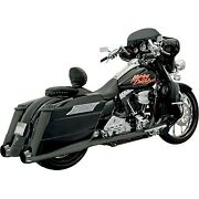 Bassani Exhaust Black +p Bagger Stepped True-duals System W/ Power Curve 95-08