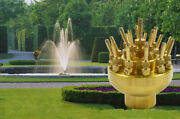 Newest 2inch 3 Layers Water Fountain Nozzle High-quality Brass 17 Sprinklers