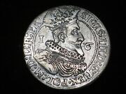 1625 Danzig - Gdansk  Silver Ort - 1/4 Thaler And039and039 King Sigismund Iii