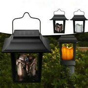 Led Candle Light Solar Powered Outdoor Garden Pathway Lawn Camping Hanging Lamp