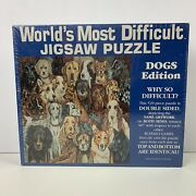Ships Same Day World's Most Difficult Jigsaw Puzzle 529 Piece Double Sided Dogs