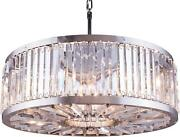 Chelsea Pendant Lamp 10-light Polished Nickel Clear Crystal Royal-cut