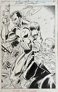 Original Marvel Comic The Punisher Page By Ken Branch