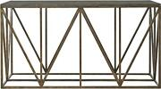 Universal Authenticity Truss Console Table Khaki Poplar Solid Metal Frame