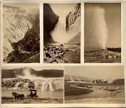 1880 Yellowstone Photograph Lot Frank Jay Haynes Old Faithful Hellandrsquos Half Acre