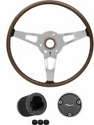 Oer S83 Woodgrain Rim Blow Steering Wheel Kit 1970 Barracuda/cuda Models