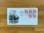 Usa Us 1990 Fdc Art Craft Transportation Coil Stamp 5 Cent Circus Wagon Horses