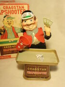 Vintage Battery Operated Cragstan Crapshooter With 3 Dice + Box Yone Japan Work
