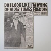 Freddie Mercury The Sun Newspaper Aids Article Clipping 14th October 1986 Queen