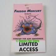 Freddie Mercury Queen 1992 Tribute Concert Limited Access Backstage Pass