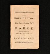 1732 The Mock Doctor Or The Dumb Lady Cur'd A Farce Fielding Moliere