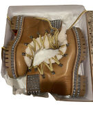 Christian Louboutin Yeti Boots Size 41 Brown..brand New Never Worn