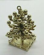 14k Gold Christmas Tree Charm Pendant With Moving Branch 14.70 Grams 1.25 Tall