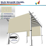 Large Waterproof Replacement Pergola Cover Sun Shade Sail For Deck Patio Beige