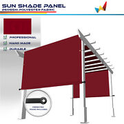 15ft Waterproof Replacement Pergola Cover Sun Shade Sail For Deck Patio Red