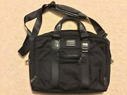 Tumi Alpha Bravo Mcnair Briefcase Travel Laptop Leather Messenger Bag 22611