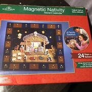 Wood And Magnetic Christmas Nativity Advent Calendar J3767 24 Days Of Advent