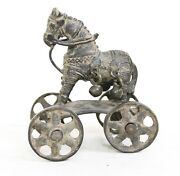 Vintage Horse Wheel Statue Solid Brass Collectible Rare Vintage Home Decor Us192